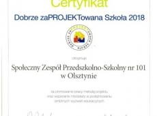 certyfikat-dobrze-zaprojektowana-szkola-2018