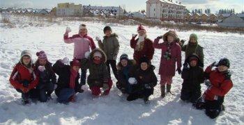 Zimowe zabawy – kl.II tęczowa