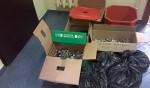 Plakaty i zbiórka baterii w całej szkole- Bateria Pomysłów