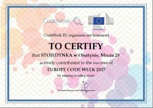 Code Week-  Tydzień Kodowania w STOJEDYNCE